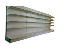 Gondola shelving- Plain back panel shelving