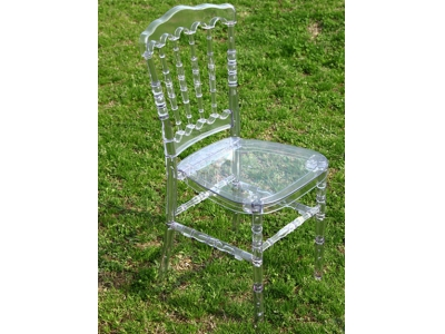 crystal resin napoleon chair